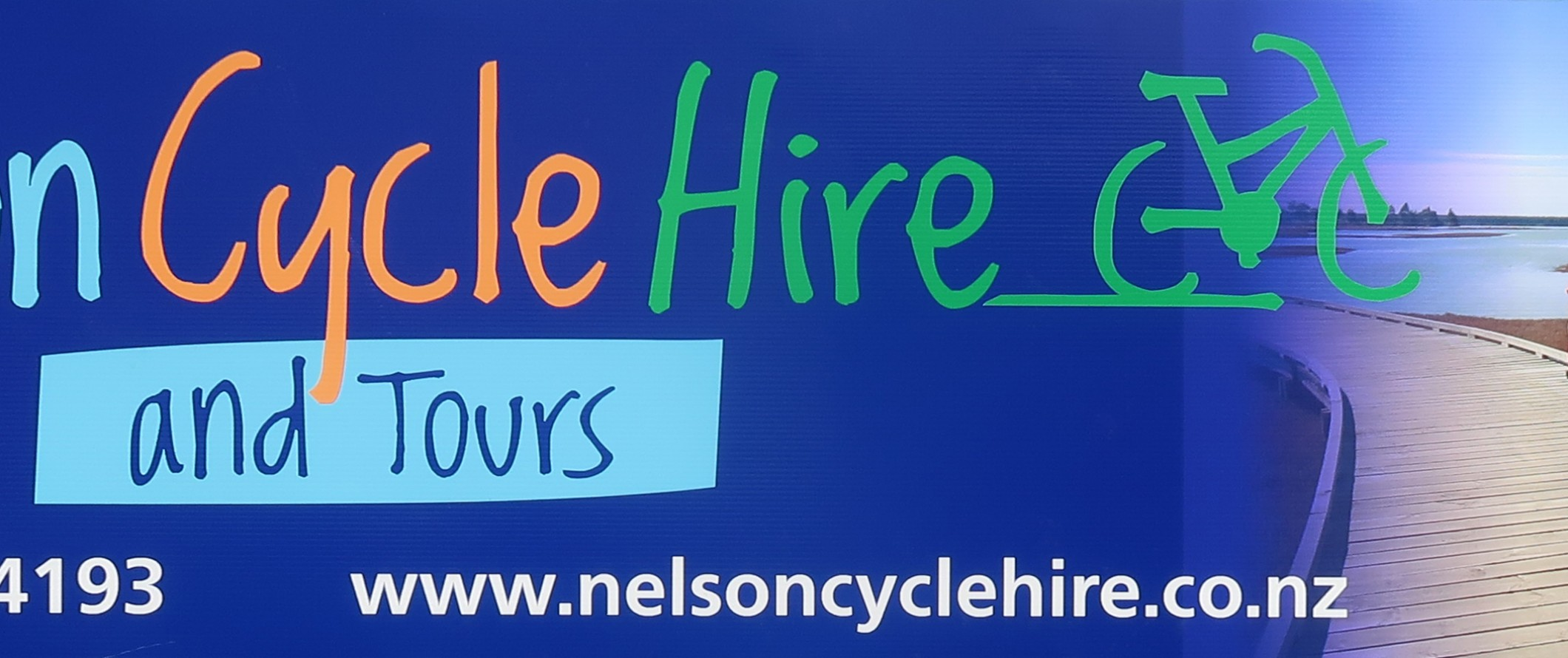 Nelson Cycle Hire Banner